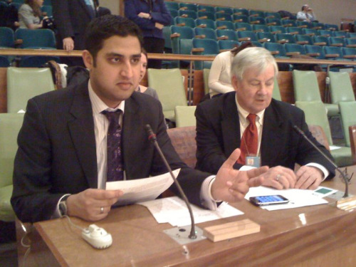 Me speaking at the UN on Financing for Development.