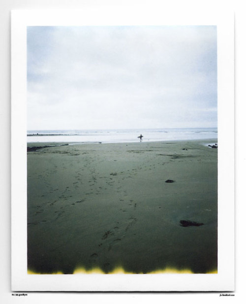 Day 80.  Secret Spot. Cornwall, UK. Polaroid Land Camera 240 and 125i film (expired 12/2007). (Polaroid photograph, all rights reserved, copyright: Jo Bradford 2010)