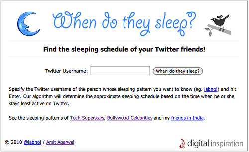laughingsquid:  When Do They Sleep? (On Twitter)  Quite accurate.