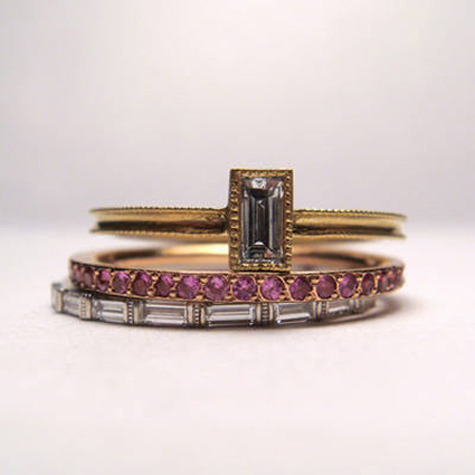 ginamaria:  these are beautiful. weddingwhims:wedding rings from the Brooklyn shop St. Kilda.
