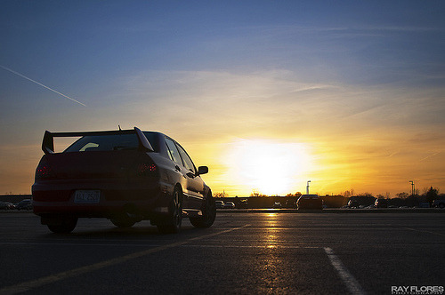 Waking Up Starring: Mitsubishi Lancer EVO VII (via ray flores)