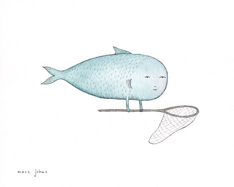 Marc Johns: fish and net