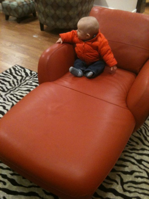 Should I buy this chair?  I'm not an interior designer. I have zero vision for furniture and placement, and yet I'm scoping crazy orange leather chaise lounge chairs for our living room.  Picking out furniture shouldn't be so hard…