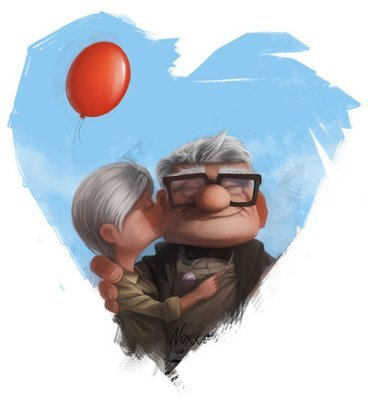 fyeahpixarmovies:  (via fuckyeahkissing)  aahhh..soo sweet..I hope to have love like that