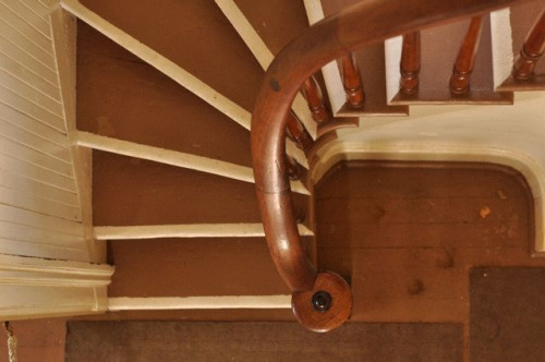 Staircase, Lighthouse at Yaquina Head. Newport, OR