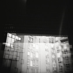 """Scopophobia"" HOLGA CFN ""Panda""Fuji Neopan 400 ProDouble exposureNegative scanned © Nathan Duarte"