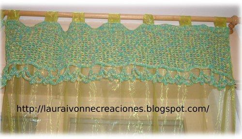 Cortinas De Baño A Crochet:Laura Ivonne Creaciones – Bordes superiores en crochet para cortinas