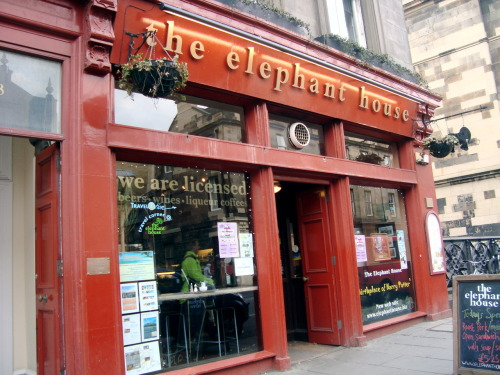 The Elephant House. Here in this quaint Scottish cafe is where J.K. Rowling first began writing the Harry Potter series. I had the wonderful privilege of eating here twice.