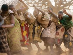 nsana:  thegnationalgeographicmagazine:  Hadza Dance, Tanzania Photograph by Martin Schoeller This Month in Photo of the Day: National Geographic Magazine FeaturesThe arrival of meat in camp may spur a line dance, but the Hadza also dance deep in the night as a ritual or at any hour for sheer pleasure.  In my experience, I have felt the most joy, smiled the most, and loved the hardest when I am in Africa…and this picture explains why.