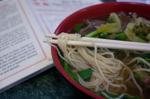Nan Zhou *Hand Drawn Noodle House, Philadelphia, PA When you are soaked to the bone from the windy, rainy 40-degree conditions in a city that is not your home, this is the definition of  comfort. This was also the best meal that I had in Philadelphia - just me and my $5.95 bowl of short rib noodle soup in a divey hole-in-the-wall in Chinatown. *I know I've posted it before, but it's worth referencing again: how hand drawn noodles are made. Pretty freakin' rad.