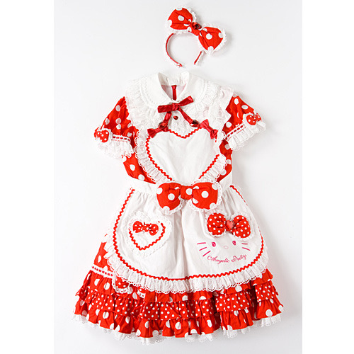 Hello Kitty x LaForet Harajuku x Angelic Pretty Dress )