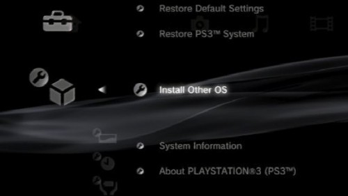 "Linux support dropped from PS3 Firmware 3.21   It's rare for a company to announce a firmware update that removes  functionality from a product, but that's exactly what Sony is doing with  the upcoming release of PS3 firmware update 3.21 on April 1st. The  rarely utilized, but nonetheless useful, ability to install another  operating system (Linux)  on the PS3 will be removed in the upcoming system software revision, a  feature that was already  removed in the PS3 Slim. SCEA's Patrick Seybold explains that the  removal of said functionality is necessary ""due to security concerns …  [and] will help ensure that PS3 owners will continue to have access to  the broad range of gaming and entertainment content from SCE and its  content partners on a more secure system.""  [Joystiq]"