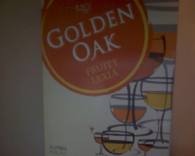Brand: Golden Oak Grape: White Style: Fruit Lexia Price: $10 Golden Oak Fruit Lexia is up there and destined to be one of the number one cask wines based on taste and affordability. I am not saying it is the best and never will say that about any cask wine, but it is worth it for the cost and taste. Another bonus of Golden Oak Fruity Lexia is that it can be found pretty much across most bottle-os and the price never changes. It has a nice smooth nozzle for those enjoying the flavours straight from the mouth of the monster. It has a nice flavour to it and is easy to down, so if you are looking for an easy night on the goon, maybe you are broke and just need want to get drunk, who knows the many motives behind drinking a fine cask wine but this encompasses them all.