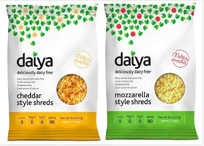 "So Daiya vegan cheese is no longer just available at Rainbow Grocery (altho if you're in SF, that's still the best place to buy it because SCREW WHOLE FOODS YA KNOW?). Anyway, it seems Whole ""we hate fat people and probably black people too WHO SAID THAT!?"" Foods finally wised up and is selling it at most bay area outposts in their cheese sections. If you don't see it, ask for it. And if you think the person doesn't know what they're talking about, ask someone else because they should have it. They sell it in eight-ounce plastic tubs like at Rainbow but that brings me to my second point: IN FURTHER NEWS: Daiya recently launched its retail (in the snazzy packaging above!) and they are unleashing that unto the world on Thursday, Apr. 1. Get your eating pants ready for DAIYA INVASION!"