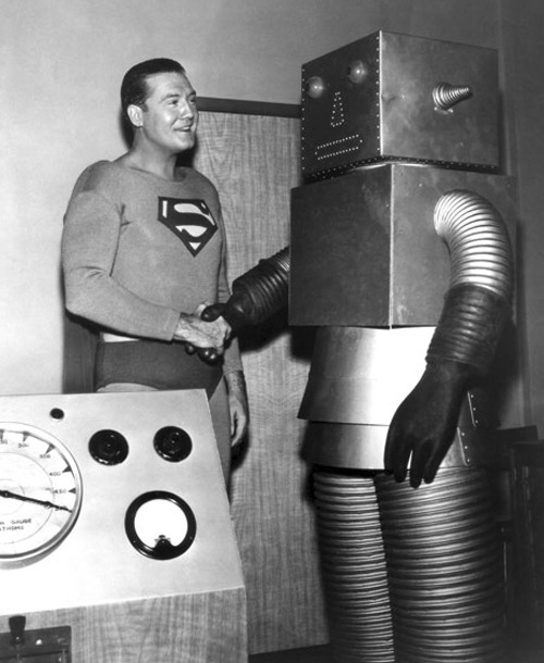 flutterknife:  monstercrazy:  George Reeves, Superman, 1950s Rob MacDougall