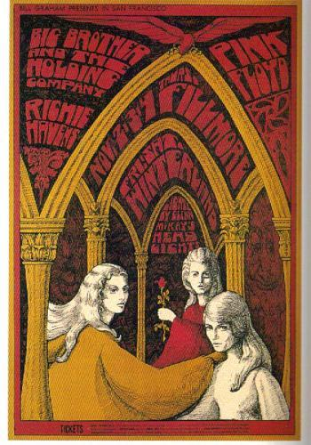 Pink Floyd Big Brother and the Holding Company at Fillmore
