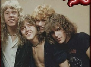 "Metallica's first band line-upJames Hetfield, Lars Ulrich, Dave Mustaine, Ron McGovney  suicaedere: Metallica was formed in Los Angeles, California, in late 1981 when drummer Lars Ulrich placed an advertisement in a Los Angeles newspaper—The Recycler—which read ""Drummer looking for other metal musicians to jam with Tygers of Pan Tang, Diamond Head and Iron Maiden."" Guitarists James Hetfield and Hugh Tanner of Leather Charm answered the advertisement. Although he had not formed a band, Ulrich asked Metal Blade Records founder Brian Slagel if he could record a song for the label's upcoming compilation Metal Massacre. Slagel accepted, and Ulrich recruited Hetfield to sing and play rhythm guitar. The band was officially formed in October 1981, five months after Ulrich and Hetfield first met  Ulrich talked to his friend Ron Quintana, who was brainstorming names for a fanzine. Quintana had proposed the names Metal Mania and Metallica. Ulrich used Metallica for the name of his band. A second advertisement was placed in The Recycler for a position as lead guitarist. Dave Mustaine answered, and, after seeing his expensive guitar equipment, Ulrich and Hetfield recruited him. In early 1982, Metallica recorded its first original song ""Hit the Lights"" for the Metal Massacre I compilation. Hetfield played bass on the song and Lloyd Grant was credited with a guitar solo. Released on June 14, 1982, early pressings of Metal Massacre I listed the band incorrectly as ""Mettallica"". Although angered by the error, Metallica managed to create enough ""buzz"" with the song and the band played its first live show on March 14, 1982, at Radio City in Anaheim, California with newly recruited bassist Ron McGovney via wikipedia.org"