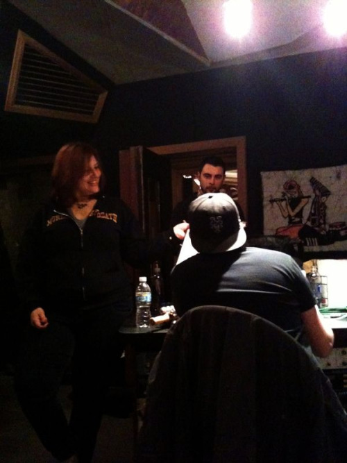 Alanna, Jared and Chris collaborating