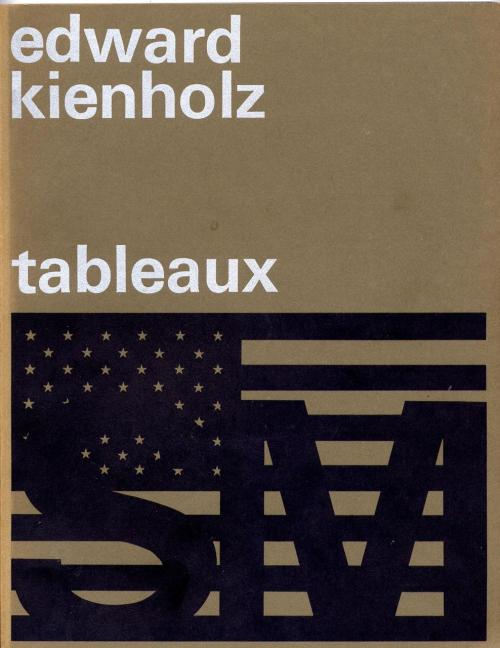 Book Cover: Edward Kienholz Tableaux. Wim Crouwel. 1970.