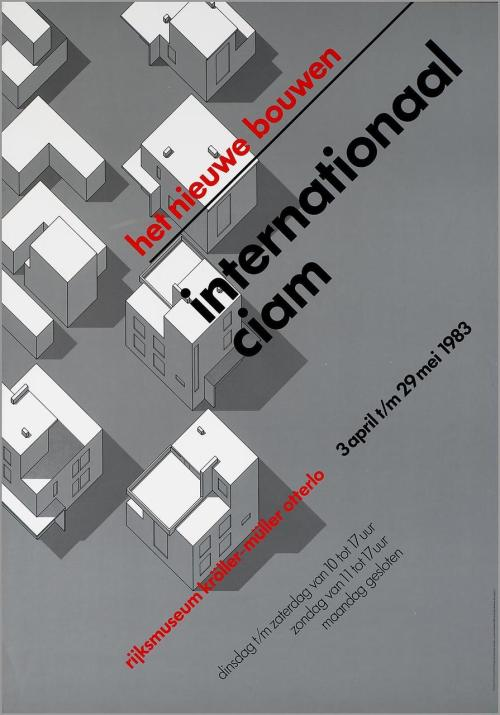 Poster: Internationaal, CIAM. Wim Crouwel. 1983.