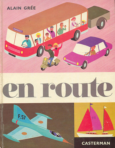 "laureola:  wonderful Illustrations by Alain Grée > ""En route""  (via itsallinmyhead, maptitefabrique, teachingliteracy, cafcaf)  Perfection."