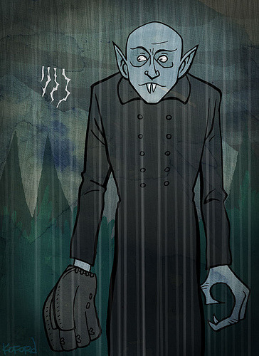 Nosferatu plays outfield (via Ape Lad)