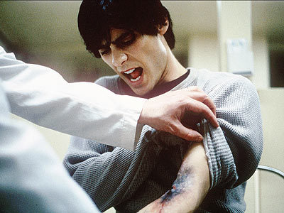 oldfilmsflicker:  Lesson on why not to do heroin, from Requiem For A Dream: Your arm might end up looking like that.  I was too young when I first saw this movie, lolol!