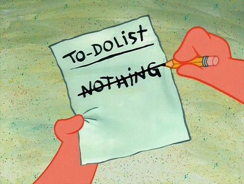 stevenla:  9gag:  To do list