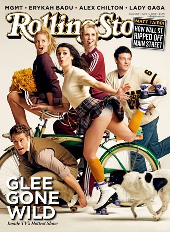 Glee en couverture de Rolling Stone Source