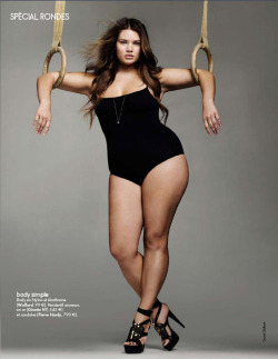 "#radicalselflove Tara Lynn, in the ""Curvy"" issue of French Elle: ""I feel good about myself today, but not just because of my job. I think it's more because I took back the control over my own health, and I accepted the fact that my silhouette will never match up with the image of beauty with which we are constantly bombarded."""