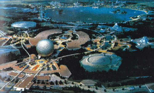 "ohmyitsdisney:  Scan. Caption: The ""official"" concept painting of EPCOT Center."