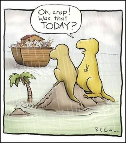 clearrants:  Another  Explanation… (via 9gag) Silly dinosaurs!  lol.. dinosaur reblog