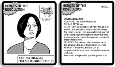 Make: Rules for Roboticists heroes of the robolution trading cards