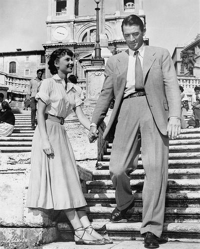 And for my 700th post (OMG)… one of my favorite movies. Roman Holiday If you haven't seen it before, I so recommend it. Audrey Hepburn and Gregory Peck… they are perfect in love. This is truly the sort of experience I think any girl wishes she could have while in Rome. It breaks my heart and makes me smile every time.