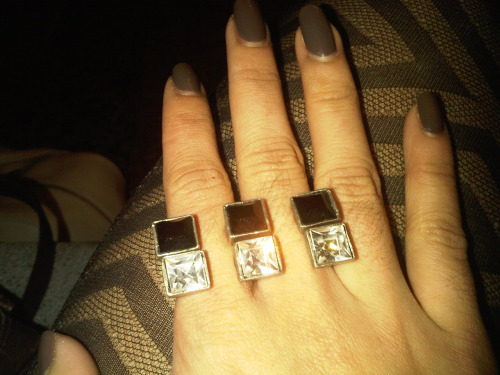 Just bought these pretty rings in LA! I'm in lovvve!