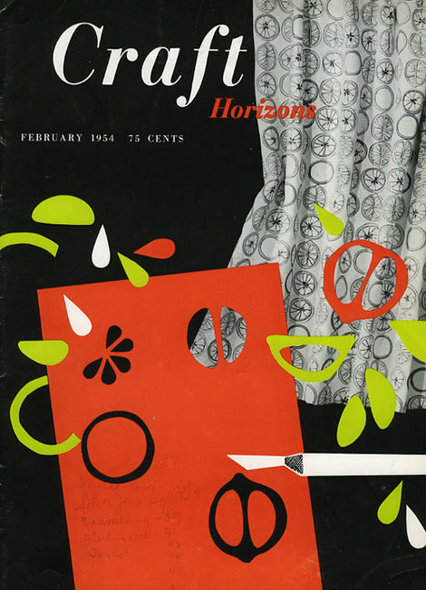 Vintage cover design for Craft Horizons magazine, via Cathy of California. More on my blog HERE.