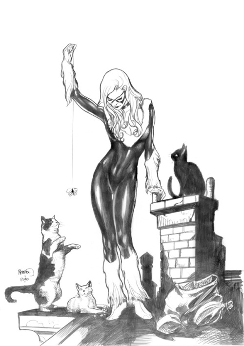 Black Cat and friends by Paul Renaud