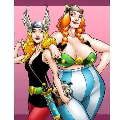 Gender Switched Asterix and Obelix