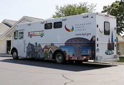 librarianista:  Kalamazoo, Michagan's Public Library's bookmobile service, which began in 1956, will be eliminated by June 30 as part of an effort to cut $550,000 from next year's library budget.