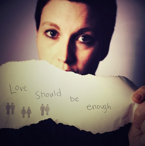 "fuckyeahbisexuals:  ""Love should be enough"""