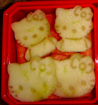Hello Kitty Apple Cutouts