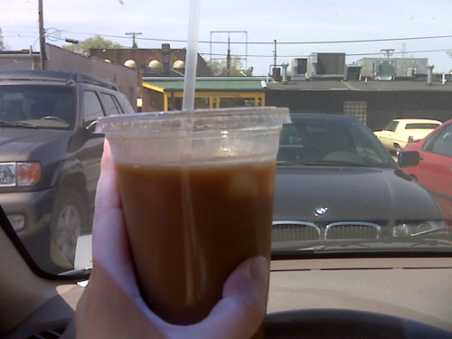 first coffee (iced @ fido) after blood:water fast