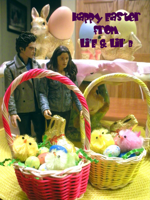 "littleedward:  Lil' B your Lil' Easter baskets look ""B""eautiful…. Happy Easter from our Lil' family to yours."