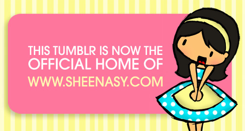 "I've decided to redirect www.sheenasy.com to my Tumblr page especially after I've fixed the layout and included the buttons because it's just so much easier to navigate. But since I love my original portfolio site, I still retained it and instead just moved it to a new location, so now it's at portfolio.sheenasy.com! Drew myself in a 'Stepford Wife"" sort of style because I'm not like that in real life. Sad. :("