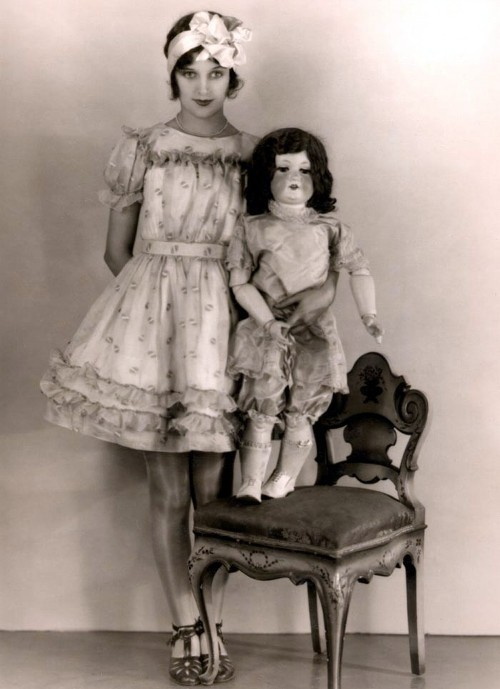 Miss Marceline Day and friend - c. 1920's