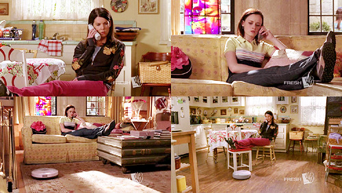 lgraham / sundaystorms  Lorelai : So is this more or less fun than watching the same TV show at the same time ?Rory : I think it's more.Lorelai : You know, if we died right now and decomposed, it would vacuum us up and no one would ever know.Rory : Freaky. Gilmore Girls 5.20 - How Many Kropogs to Cape Cod ?