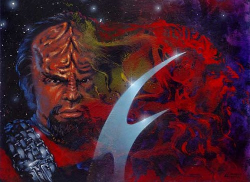 fan-art:  Title : Worf Artist : Herb Leonhard Inspiration : Worf from Star Trek: The Next Generation (Television Series)