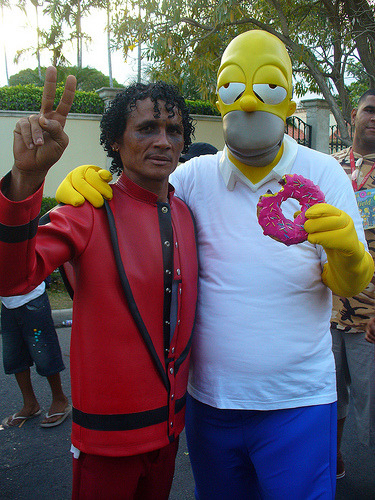 Michael Jackson Y Homero Simpson Stoned (via chande legion)