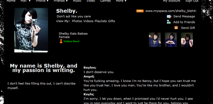 Lmfao, idek know her, but I randomly clicked on her myspace, and I had to post it. How freaking typical is this?!