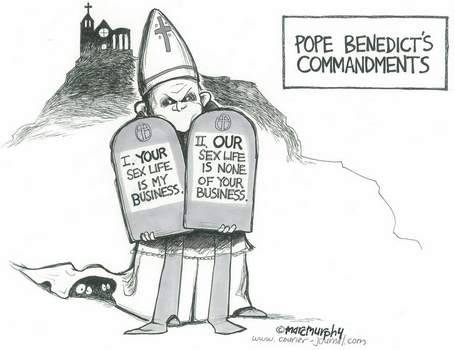 Pope Benedicts Commandments  fuckyeahslightlyamusing:  sofapizza:  laughinacorner unfortunately accurate